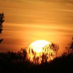 De zonsondergang op minicamping Falkenborg